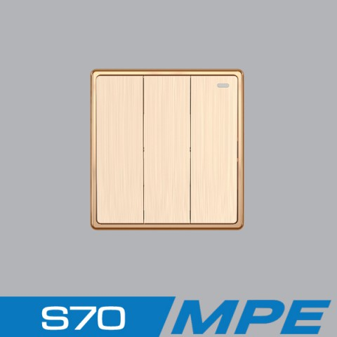 Bộ 3 công tắc 1 chiều  16A - 250V MPE S703