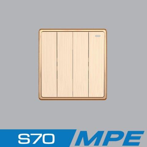 Bộ 4 công tắc 1 chiều  16A - 250V MPE S704