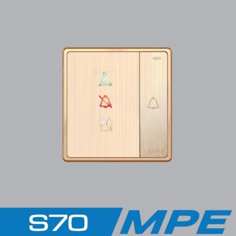 Bộ nút nhấn chuông + đèn báo không làm phiền + Đèn báo dọn phòng MPE S7CDP
