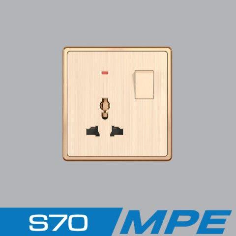 Bộ ổ cắm 3 chấu + công tắc 10A 250V MPE S7MS