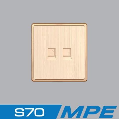 Bộ 2 ổ cắm điện thoại MPE S7TEL/2