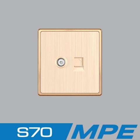 Bộ ổ cắm điện thoại + ổ cắm tivi MPE S7TV/TEL