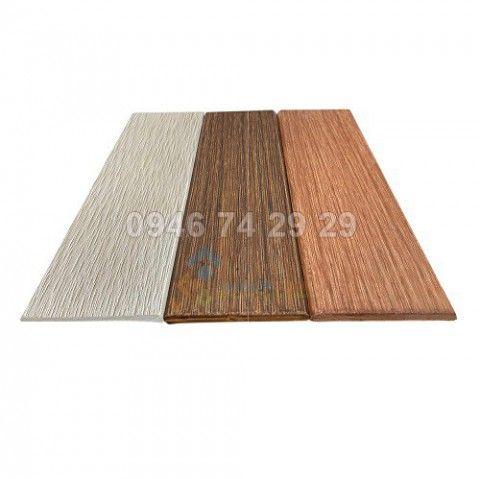 Thanh ốp tường vân gỗ xi măng, vuông cạnh, ốp vây cá C200