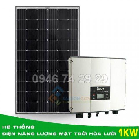 Hệ thống điện năng lượng mặt trời hòa lưới 1KW