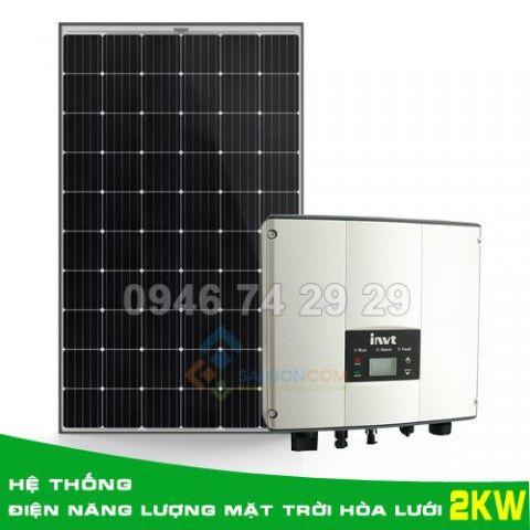 Hệ thống điện năng lượng mặt trời hòa lưới 2KW