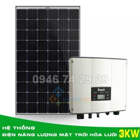 Hệ thống điện năng lượng mặt trời hòa lưới 3KW