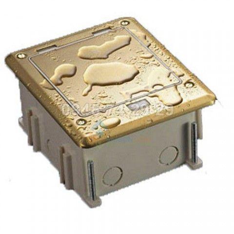 Ổ cắm âm sàn chống nước LG-0002S mầu bạc làm bằng  Inox Hỗ trợ IP66