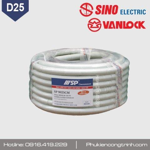Ống ruột gà đàn hồi tự chống cháy SINO D25 (phi 25)