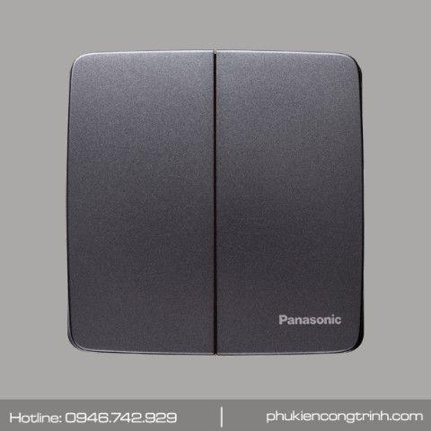 Bộ công tắc đôi 1 chiều 16A Panasonic Minerva WMT503MYH-VN (Đen ánh kim)