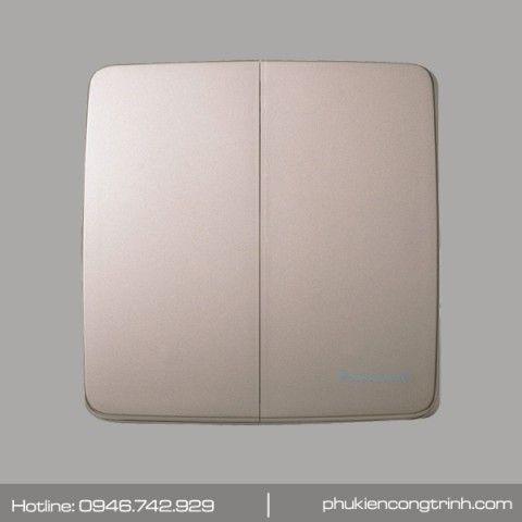 Bộ công tắc đôi 1 chiều 16A Panasonic Minerva WMT503MYZ-VN (Vàng ánh kim)
