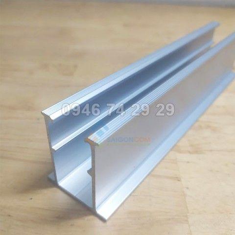 Thanh rail nhôm U dài 19,5cm dùng cho lắp pin mặt trời