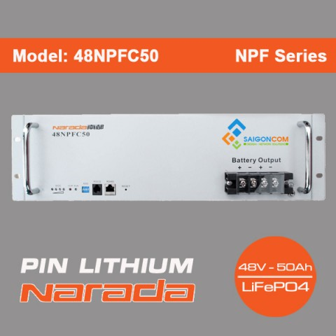 Pin Lithium Narada 48V - 50Ah | Model: 48NPFC50