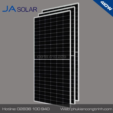Tấm pin năng lượng mặt trời hafl-cell JA Solar 410W