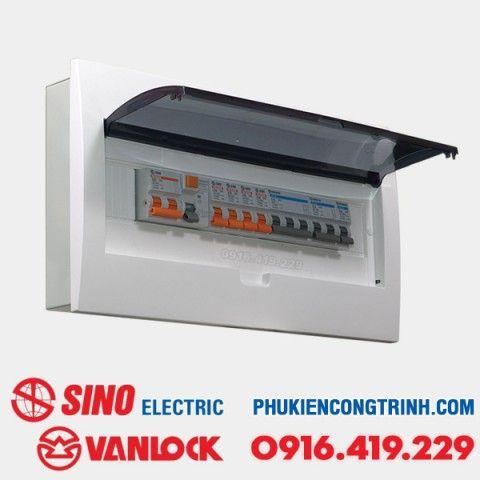 Tủ điện âm tường Sino E4FC 14 - 18 Module