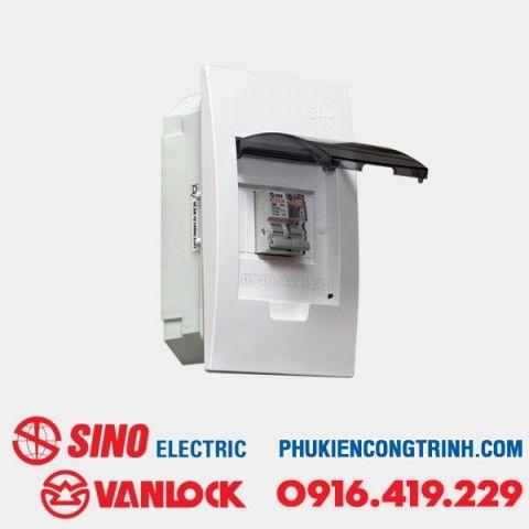 Tủ điện âm tường Sino E4FC 2 - 4 Module