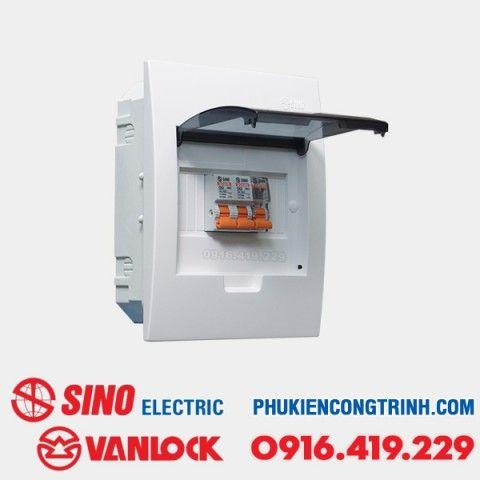 Tủ điện âm tường Sino E4FC 3 - 6 Module
