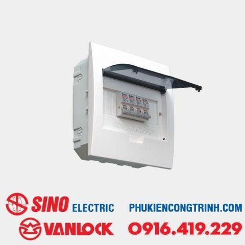Tủ điện âm tường Sino E4FC 4 - 8 Module
