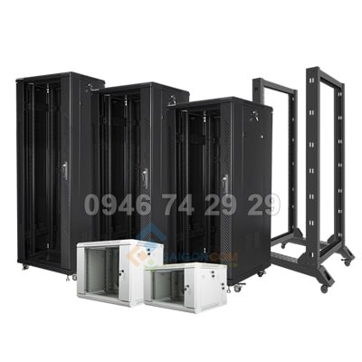 Tủ Comrack treo tường 12U - D600 (W550xH590xD600) dày 0.8mm