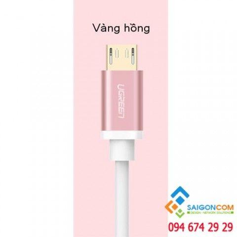 Dây Micro USB sang USB 2.0 màu ROSE GOLD UGREEN dài 1.5M