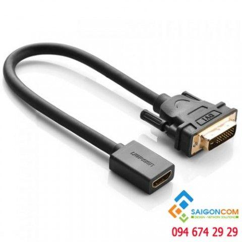 Cáp chuyển đổi DVI 24+1 dương sang HDMI âm Dùng được cả 2 chiều