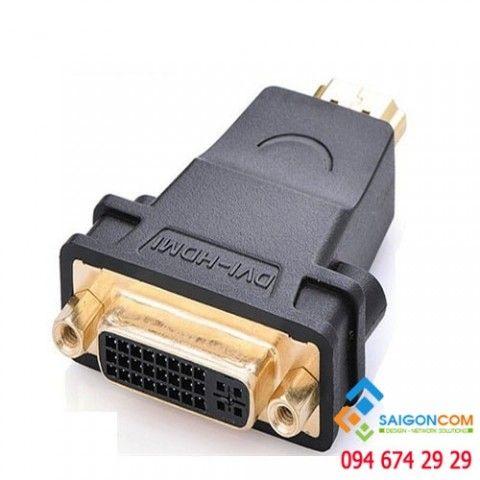 Đầu chuyển đổi HDMI dương sang DVI 24+1 âm