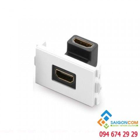 Nhân nối bẻ góc 90 độ HDMI 1.4 dùng cho mặt 86x86