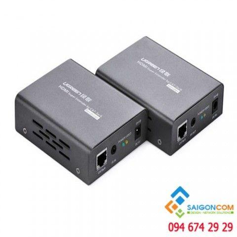 Bộ kéo dài HDMI 100m qua cáp mạng Cat5,6 Ugreen 40210