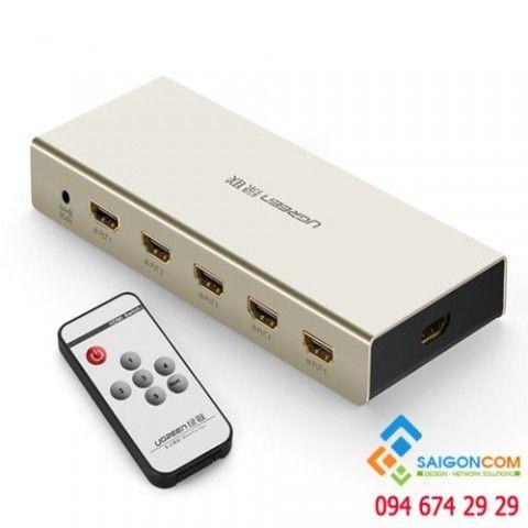 Switch HDMI 5x1 Ugreen 40279 hỗ trợ 3D, 4Kx2K, có điều khiển
