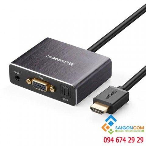 Cáp chuyển HDMI sang VGA tích hợp Audio, cổng quang SPDIF Ugreen 40282