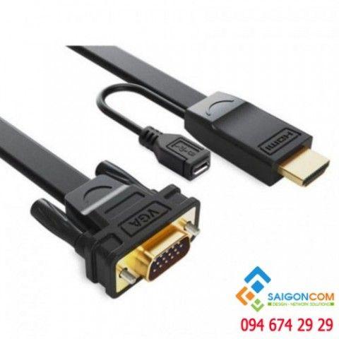 Cáp chuyển đổi HDMI sang VGA ugreen MM101 2 mét dây dẹp