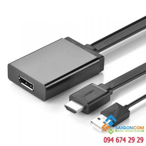 Ugreen MM107 40238 cáp chuyển đổi HDMI sang Displayport 0.5M