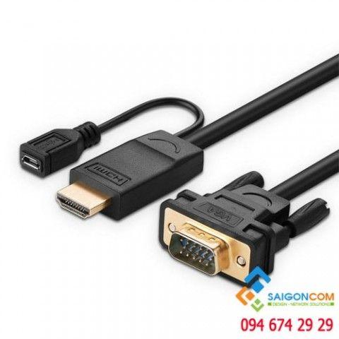 Cáp chuyển đổi HDMI sang VGA cao cấp Ugreen MM117 1.5 mét