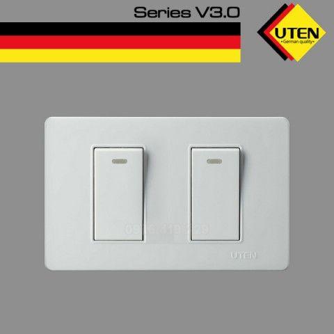 Bộ công tắc đôi UTEN V3 (Size S)