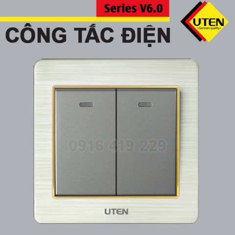 Bộ 2 công tắc điện 2 chiều Uten V6.0GK22
