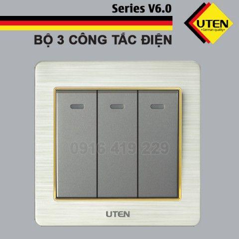 Bộ 3 công tắc điện 2 chiều Uten V6.0GK32