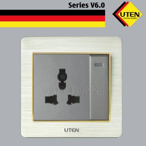Bộ công tắc 2 chiều và ổ cắm 3 chấu Uten V6.0GK12Z13/N