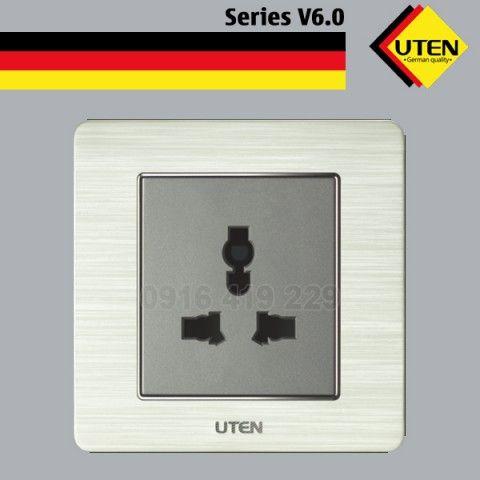 Bộ ổ cắm điện đơn 3 chấu UTEN V6.0GZ13/N