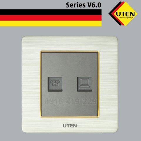 Bộ ổ cắm mạng- ổ cắm thoại UTEN V6.0-TELPC