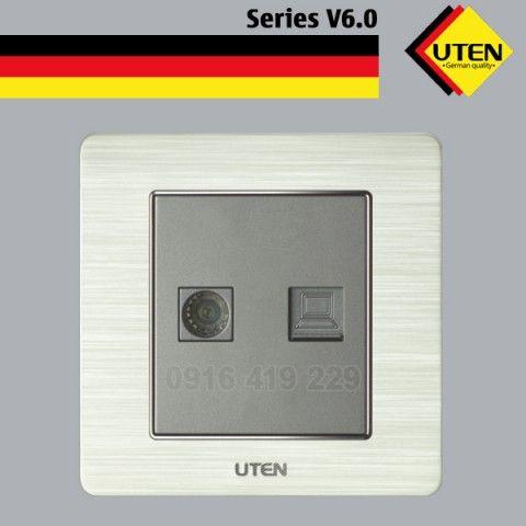 Bộ ổ cắm ti vi - ổ cắm thoại UTEN V6.0-TVPC