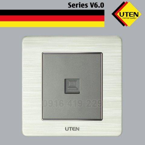 Bộ ổ cắm mạng đơn - mặt vuông UTEN V6.0G-1PC