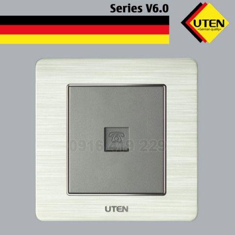 Bộ ổ cắm điện thoại đơn - mặt vuông UTEN V6.0G-1TEL