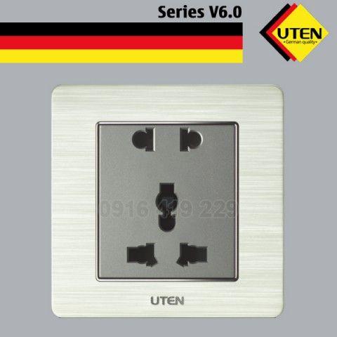 Bộ ổ cắm đôi 2 chấu và 3 chấu UTEN V6.0GZ12Z13/N