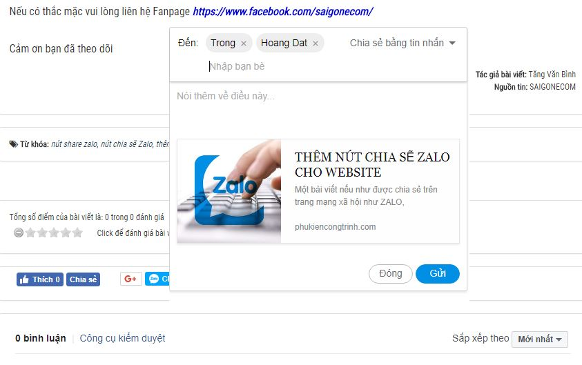 them nut chia se zalo cho website