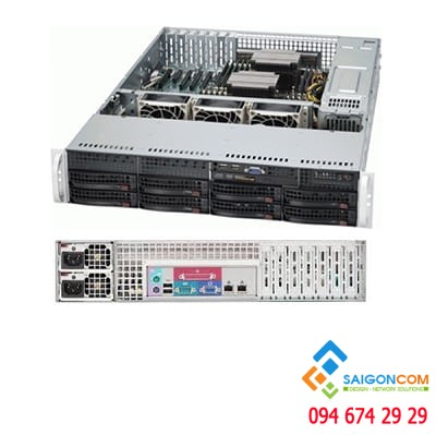 "Server  Supermicro 3,5"" 825TQ-600LPB E5-2620V4-  1U Rack Mount"