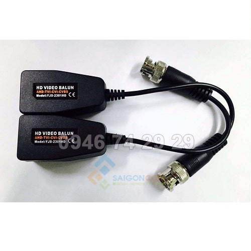 Video BaLun YJS-2301HD dùng cho camera AHD, HDTVI, HDCV