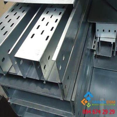 Máng cáp W200xH100 thép CT3 dày 1.2mm, Sơn tĩnh điện