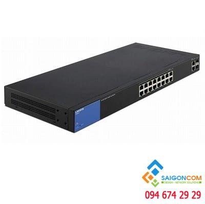 LGS318P 18-Port Business Gigabit Smart PoE+ Switch 1