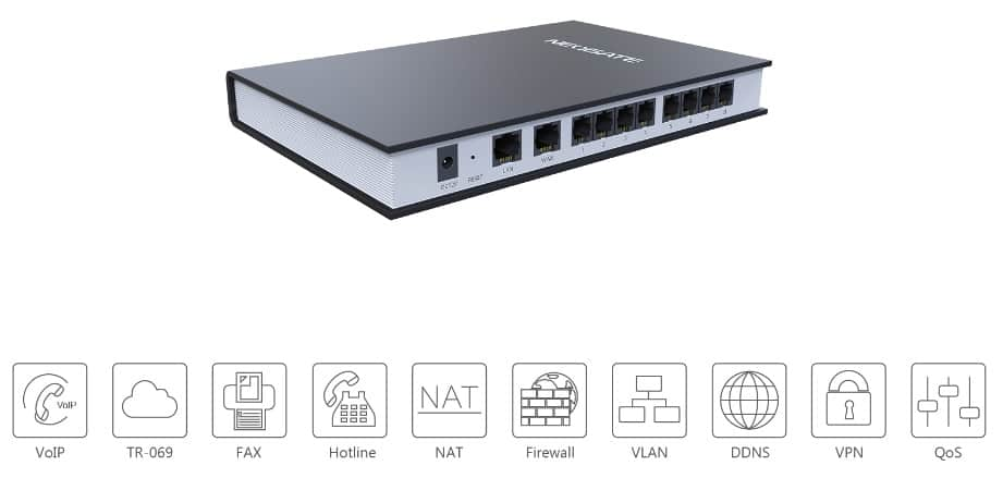 Cổng VoIP Gateways FXS TA800