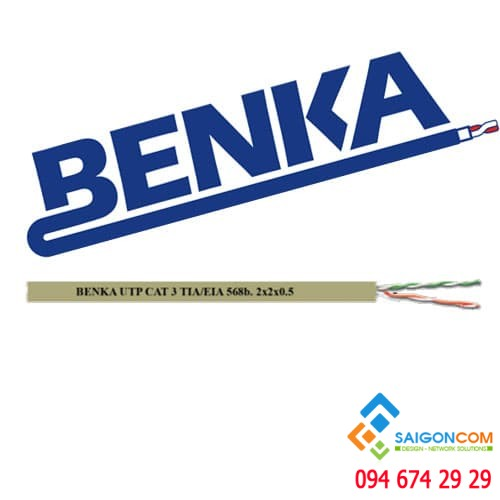 Cáp  UTP Telephone Cable, 2x2x0,5mm (2 pairs) Benka