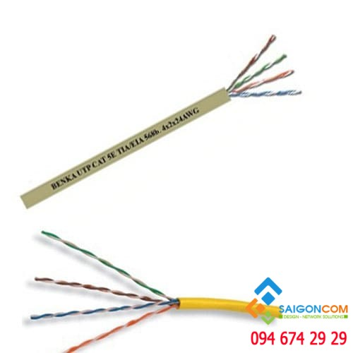 Cáp  U/UTP CAT.6 Cable  4×2×24 AWG Benka